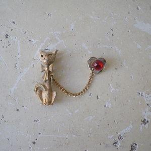 Vintage Dita von Teese Pinup Cat Collar Pin